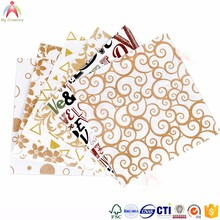 Scrapbook item gold brush paper gift wrapping paper