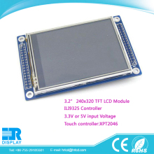 "3.2"" raspberry pi lcd , tft 240x320 pixels ILI9325 resistive touch screen XPT2046 display"