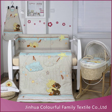 2015 new design handmade 3D china soft popular baby bedding set 100% plain cotton Suzy's Zoo