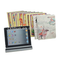 2013 latest Merry Christmas design dormancy leather case for ipad mini