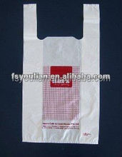 100% raw material t-shirt bag NO.711 printed t-shirt bags
