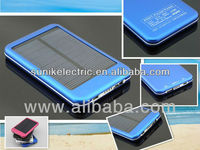 2013 hot sales high quality solar panel rechargeable power bank for mobile phone