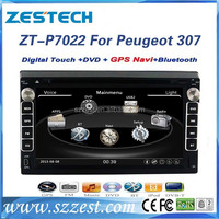 ZESTECH NEW 7'' HD touch screen car dvd player for PEUGEOT 307 Multimedia with GPS Navigation am/fm radio CD player