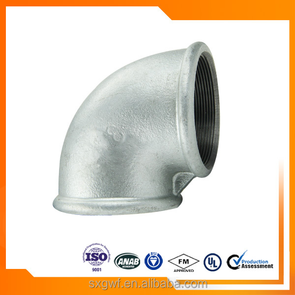 hot dipped galvanized elbows malleable iron pipe fitting
