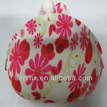 Chinese Style Fashion Floral Ladies Girls Cute Silicone Coin Purse/Silicone Pocket Pouch