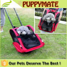 Rolling Travel Airline Wheel Luggage Dog Carrier Bag , Pet Carrier Bag