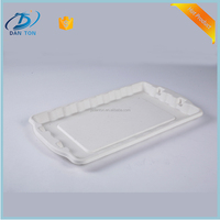 Disposable white pulp take away food container/biodegradable tableware