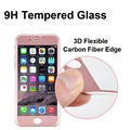 Cell Phone Screen Protector, 3D Full tempered glass Sofe Edge Carbon Fiber for iphone 7 7plus Screen Protector Flim
