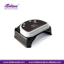iBelieve China nail supplies private label 64w cordless nail led gel light