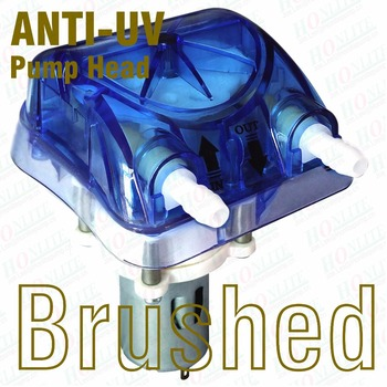 420ml, 3 Rollers, 24V Peristaltic Pump with Anti-UV Exchangeable Pump Head in blue & FDA Approved PharMed BPT Peristaltic Tube