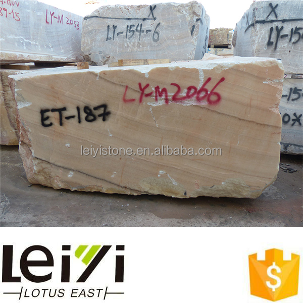 New arrivals natural yellow onyx raw marble blocks