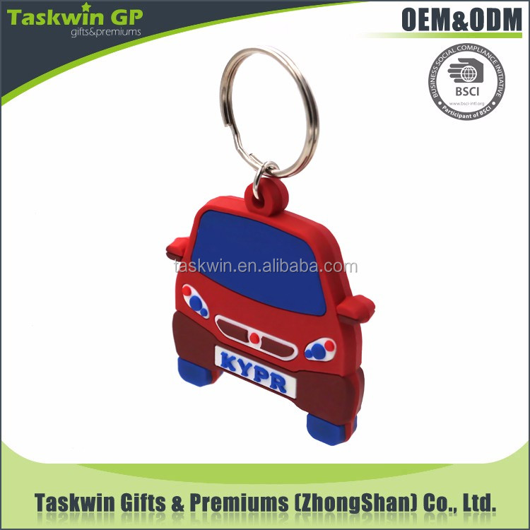Hot sale custom 3d car shaped keychain soft pvc keychain