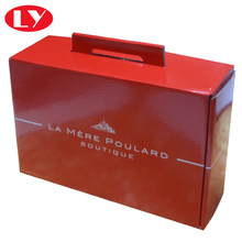 Red Colour mailing chocolate packaging box with handle