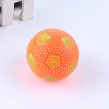 wholesale new fashion 7.5cm soccer light up squishy puffer ball
