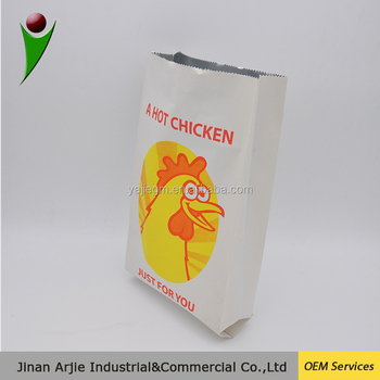 Health Food Paper Chicken Takeaway Bags