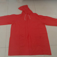 red pvc rain suit design accepted with high quality