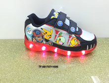 fashion LED lighting children luminous shoes boys sneakers Cartoon kids sport shoes