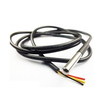 waterproof digital temperature sensor DS18B20 probe with 1m 2m 3m 5m cable