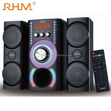 latest design 2017 hot new sound system 2.1 multimedia speaker with flashing