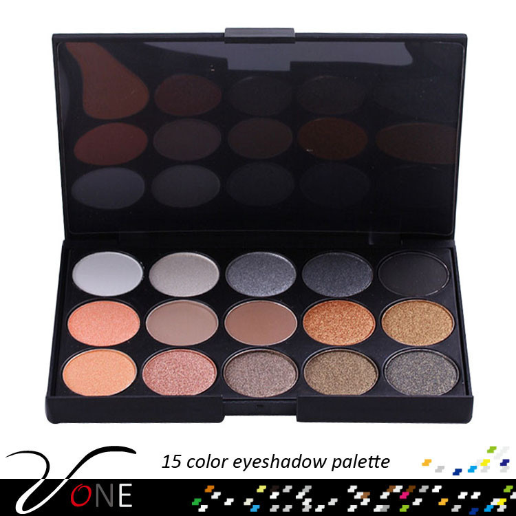 15 color miss rose eyeshadow palette warm and Neutral mineral powder