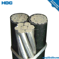 0.6/1KV ASTM B230/231/399 neutral conductor aac/aaac/acsr xlpe/pe triplex service drop pike/patella abc cable