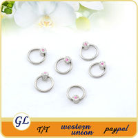 Fashion body piercing jewelry BCR CBR nose ring