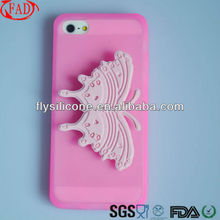 Jelly Silicone case For Apple iphone 5, for iphone case ,Light Red