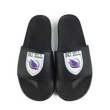 Greatshoe custom black slide <strong>slippers</strong> sandal with logo,China slide footwear <strong>slipper</strong>,leather beach sliders <strong>slippers</strong> women
