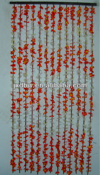2013 Plastic Leaf Bamboo Bead Door Curtains Christmas Curtains