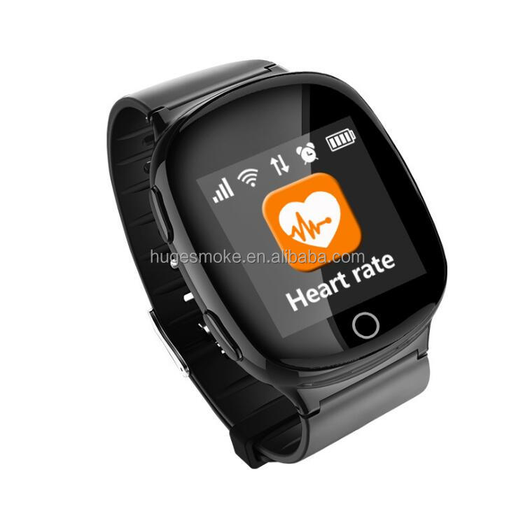 High quality old man Anti-lost Android Smart Watch D100 gps tracker watch with heart rate monitor GPS+LBS+WiFi positioning