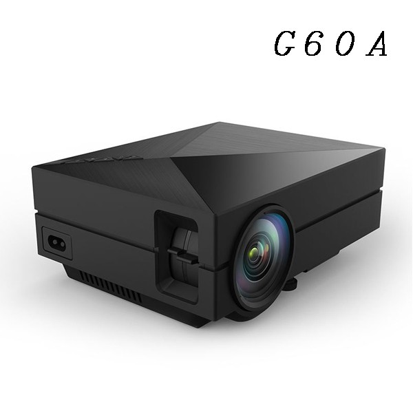Fashion Black Design Projector HD Multimedia Interface Multimedia Projector Cheap G60A Mini Projector With Headphone Jack