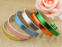 Cheap promotional items 8mm metallic diy personalized bands for kid