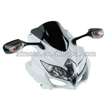 For SUZUKI GSXR600/750 08-10 motorcycle Headlight,upper fairing,mirror,Windscreen