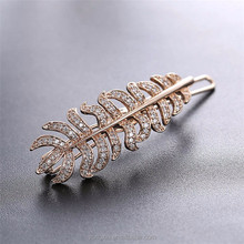 Gold and silver beautiful zircon stone latest fashion accessory design hair clip