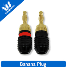 High Quality 4mm Safety Banana Plugs for Any Speaker, Wall P late, or A/V Receiver