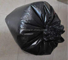 Garbage industry use eco-friendly polythene refuse black bin bag on roll