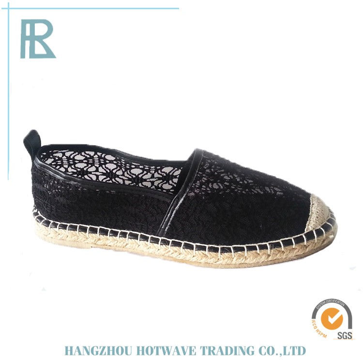 China Wholesale lady's flat canvas upper espadrilles shoes