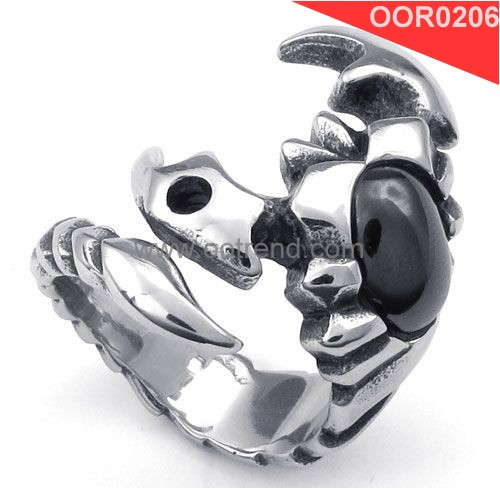 Navy blue ,black stone fast shipping men stainless steel jewelry ring of biker style