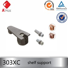 303XC high quality invisible cabinet shelf support with screw pin
