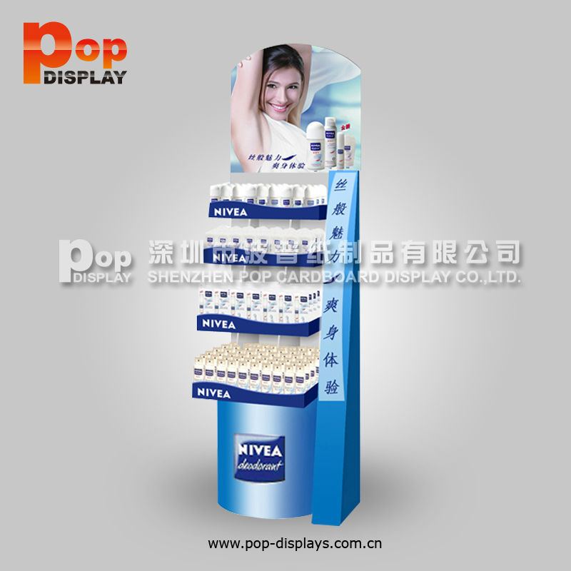 factory price cardboard perfume showcase for shop
