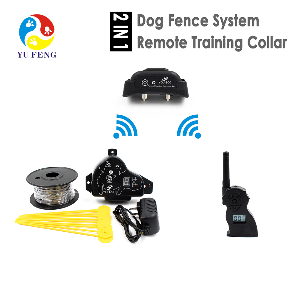 Invisible Dog Fence Containment System with Remote Training Collar 2 Function Combination