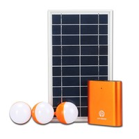 Sunpower Energy with phone charger Aluminum and plastic rechargeable battery solar system home