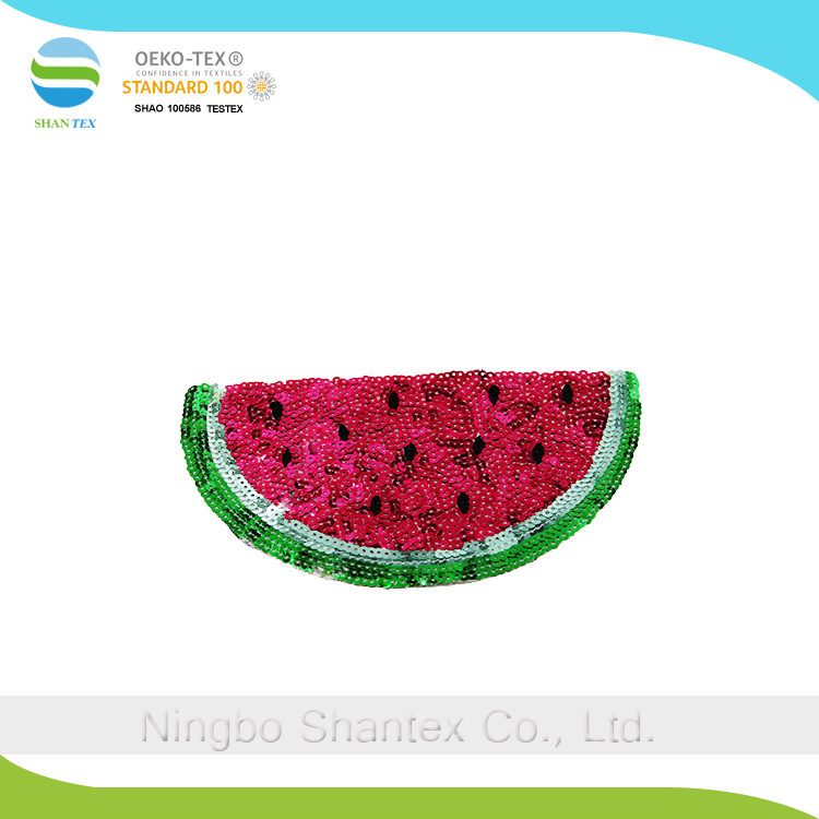 Watermelon large sequins beads embroidery patches of fashion chapter decorative stickers