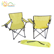 Fishing equipment chair with arms