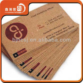 Xhfj Personalized Kraft Paper Business Cards Buy Kraft