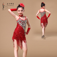 2016 new arrival wholesale ballroom latin dance dress child clothes girl dress