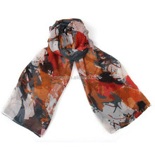 Charming Floral Printed Viscose Scarf For Lady (EL007-1)
