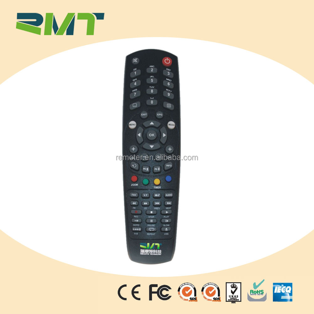 Customized digital tv ir remote control with silicone tv controller protective cover