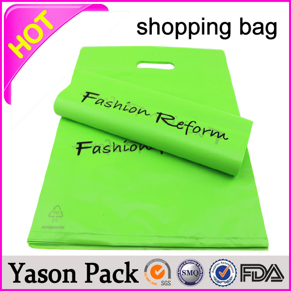 Yason handmade custom logo printed shopping bag plastic with rope handle pop designer gift wrapping