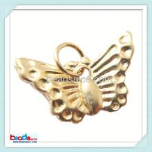 Beadsnice ID 25942 14K filled butterfly charm pendant with Jump Ring Gold Filled Charm Pendant